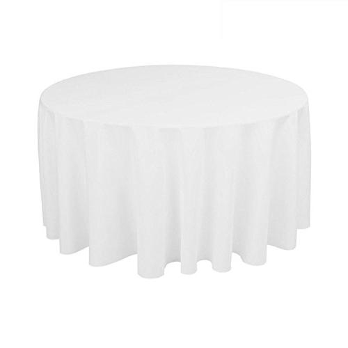 round polyester table cover tablecloth