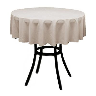 Round Polyester Inches BEIGE Linens Factory