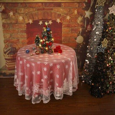 70in Merry Christmas Tablecloth Table Cover Cloth Wedding Xm