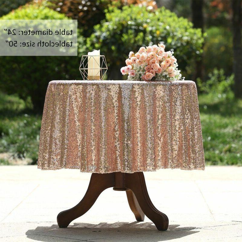 Round Sequin Table Event Decor