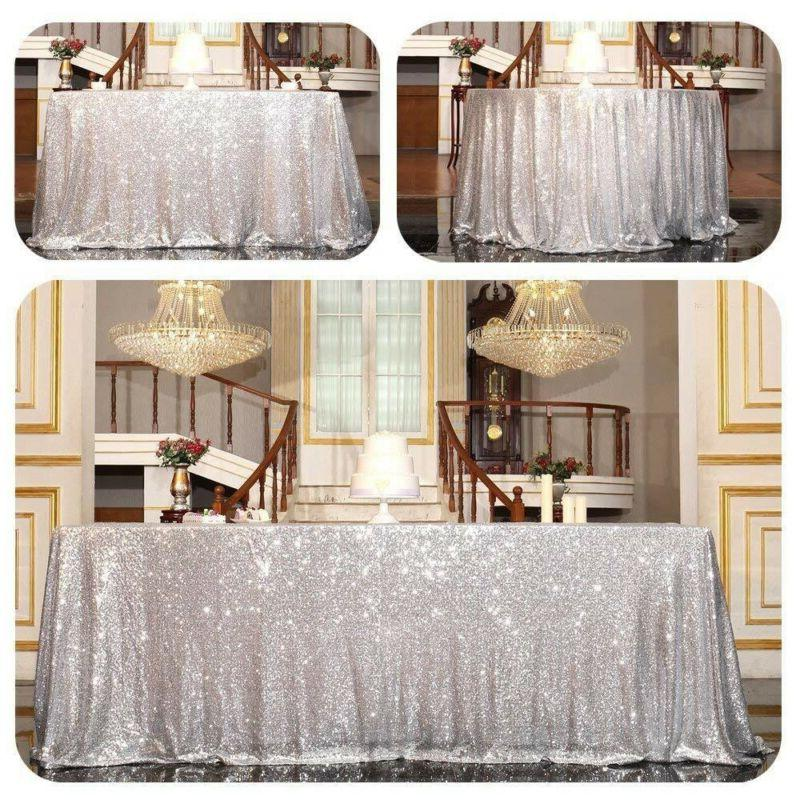 Round Sequin Table Wedding Event Decor