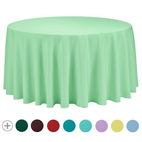 round solid polyester tablecloth