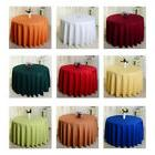 Round Table Cloth Banquet Satin Table Cover Polyester Weddin