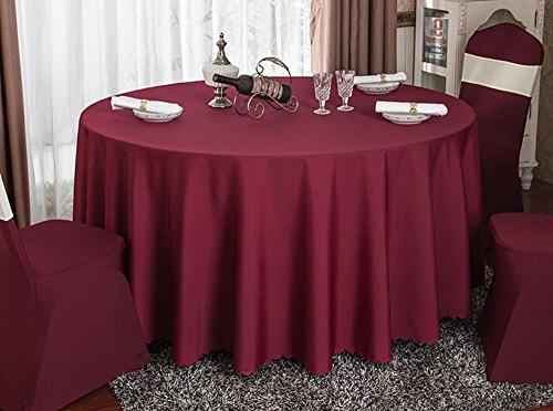 Eforcurtain 90 Inch Round Tablecloth