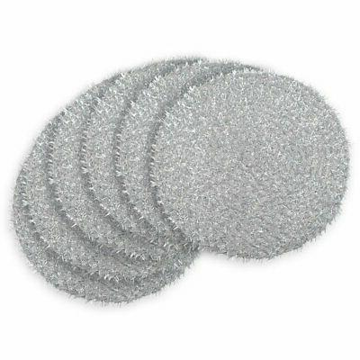 round woven tinsel placemat set of 6
