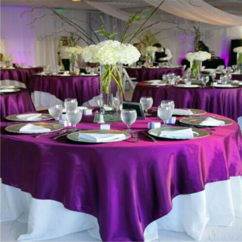 """71""""Square Satin Tablecloth Wedding Table Cover Cloth Banquet"""