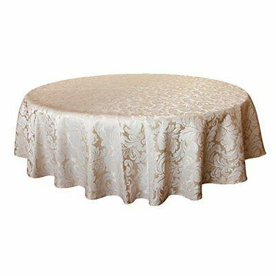 scroll damask jacquard tablecloth spillproof round 70