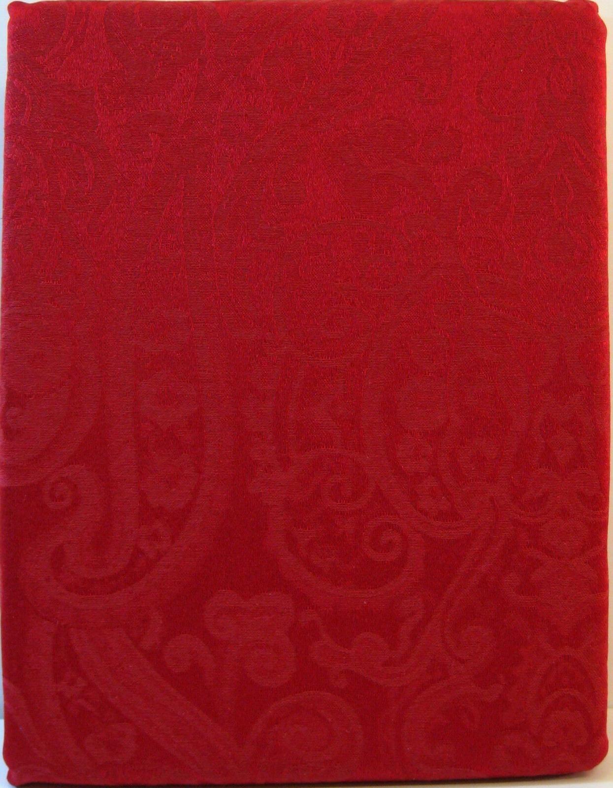paisley red tablecloth