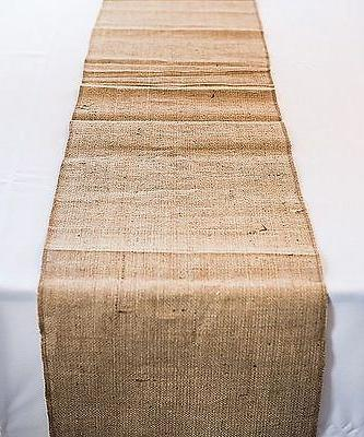 Set Tablecloth Runner Burlap Natural 12 X 108 Inch  By Browa