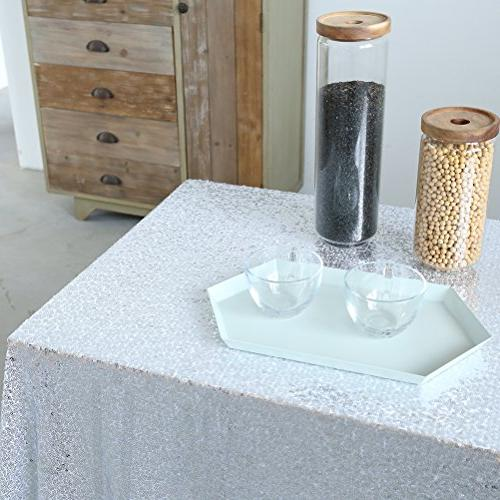 GFCC 90x132'' Sequin Tablecloth Table Cloth Christmas Supplies
