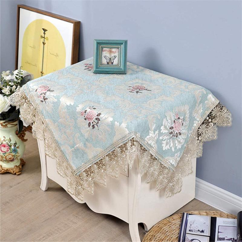 Small Square Tablecloth Embroidered Coffee For