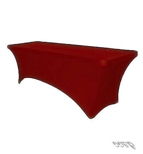 GFCC Spandex Red Rectangle Table Cloth Decoration Wedding Party Decoration