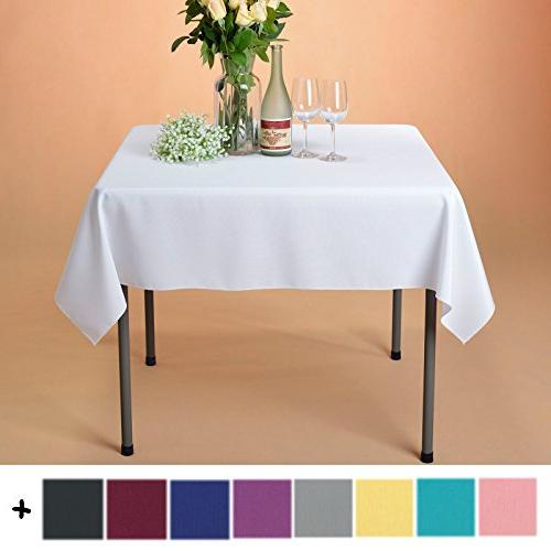 square polyester tablecloth table cover