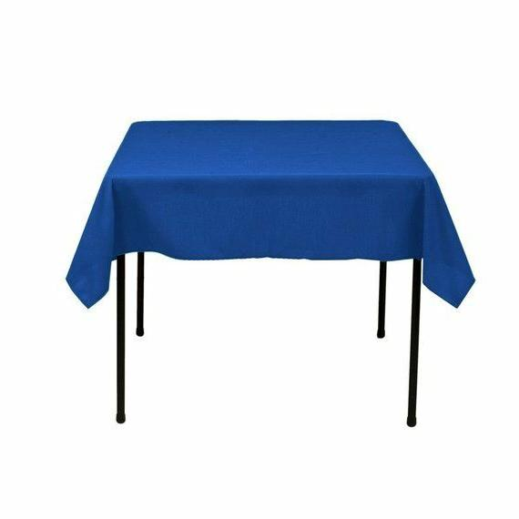 Square Tablecloth - 60 x 60 Inch - Royal Blue Square Table C