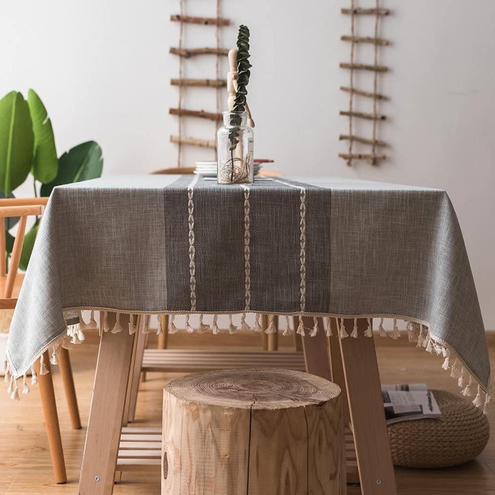 stitching tassel tablecloth rectangle oblong 55 x