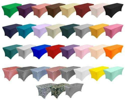 stretch spandex table covers fitted rectangular tablecloths
