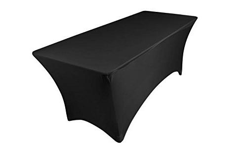 stretch tablecloth rectangular spandex table