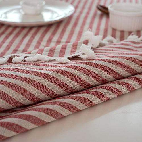 ColorBird Stripe Cotton Dust-proof Cover Tabletop