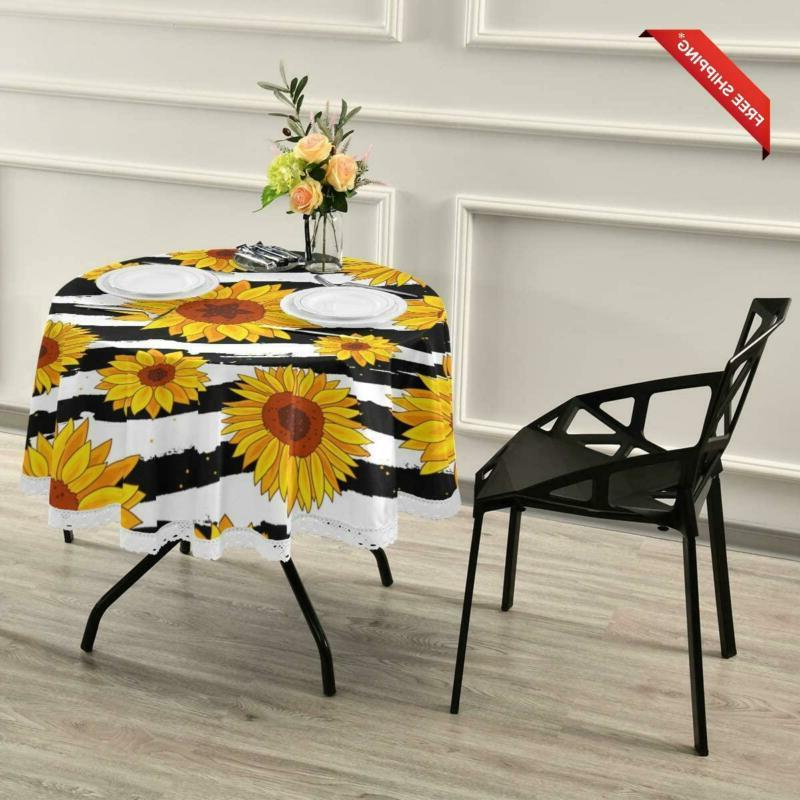 Alaza Sunflower Polyester Lace Table Circle