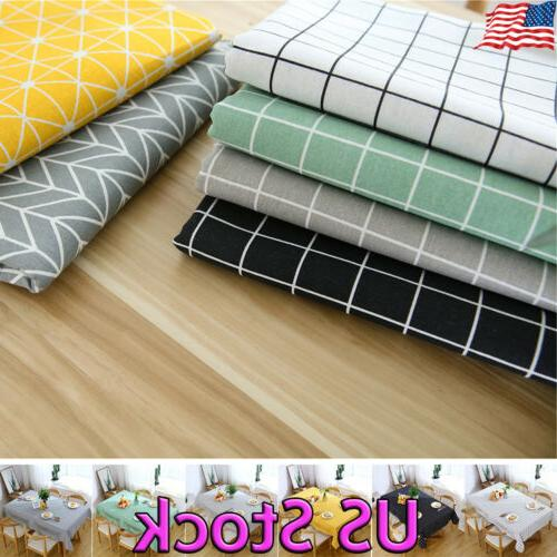 table cloth cotton flax rectangular waterproof oilproof