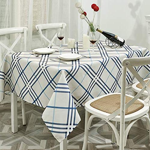 TUBEROSE Table Cloth Oil-Proof Spill-Proof for Dinning, 60x120