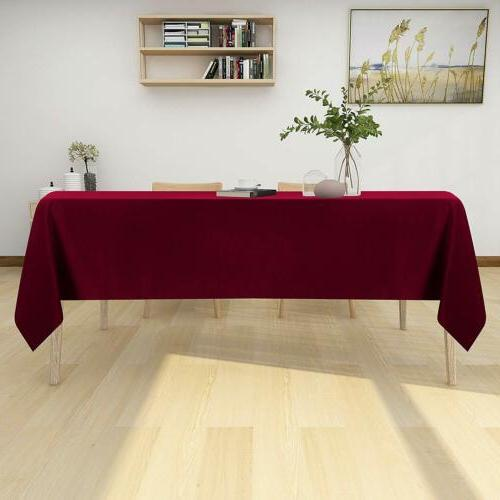 Table Resistance Tablecloth Kitchen Dining