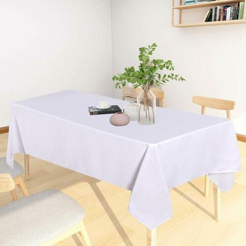 Table Spill-Proof Water Resistance Tablecloth Kitchen Dining