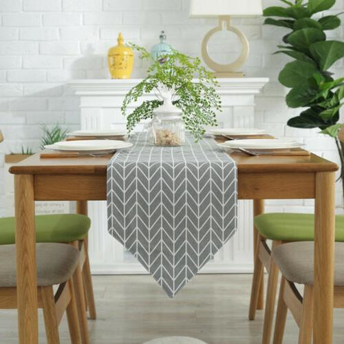 Decorative Table Cloth Cotton Linen Rectangular Dining Table