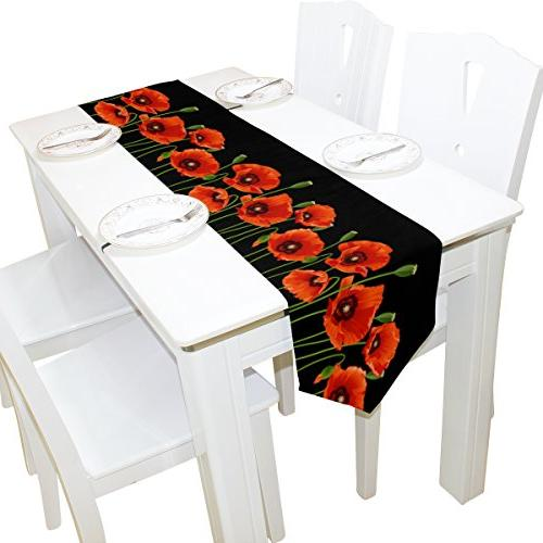 table runner home decor poppy