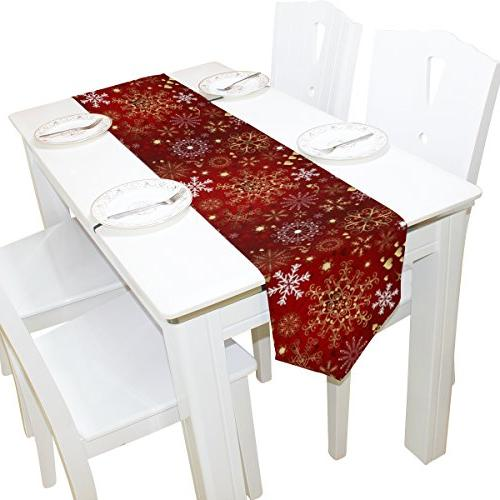 table runner home decor snowflakes