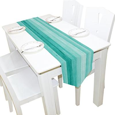 table runner home decor teal turquoise blue