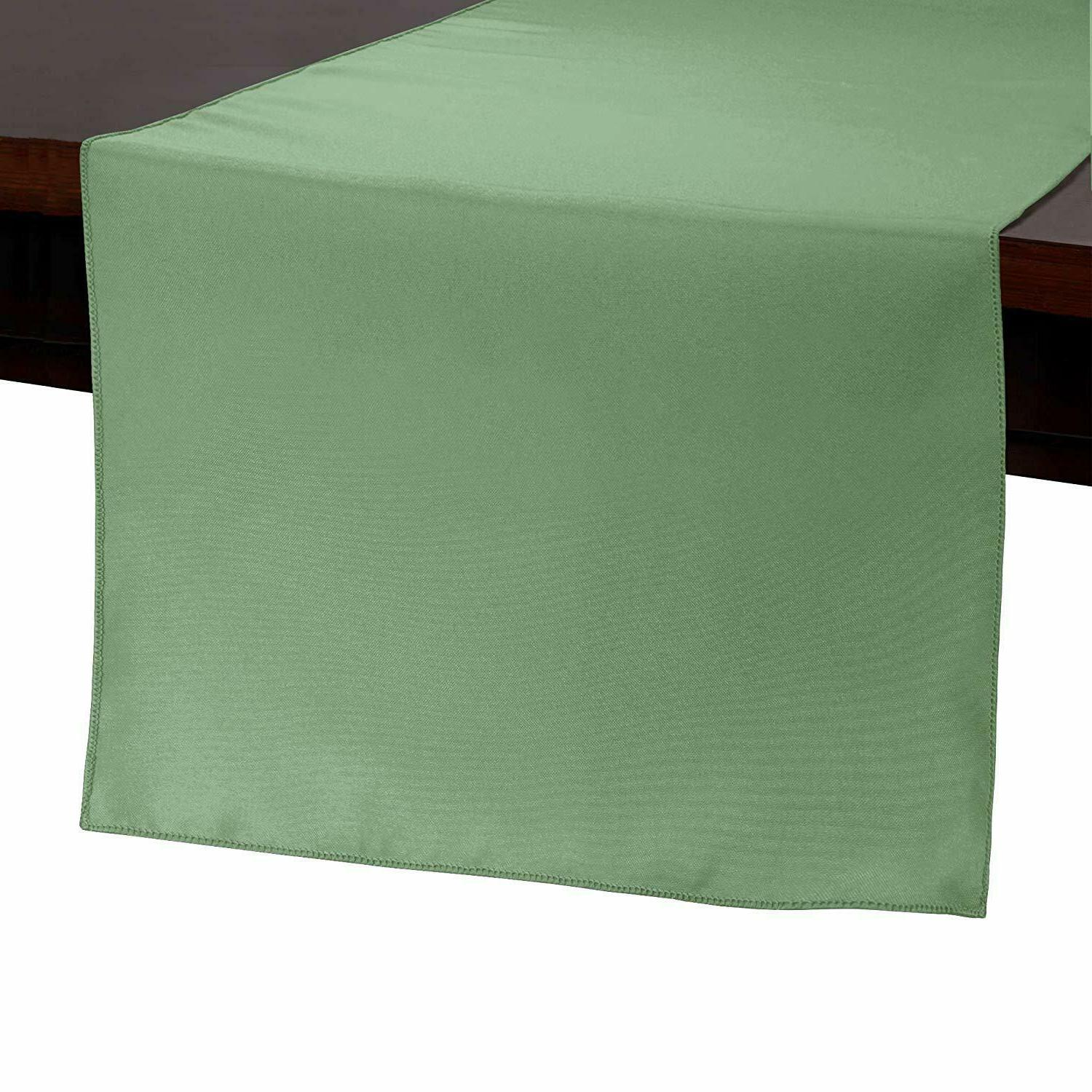 "Set 5 Table Runner Polyester 14x120""  By Broward Linens"