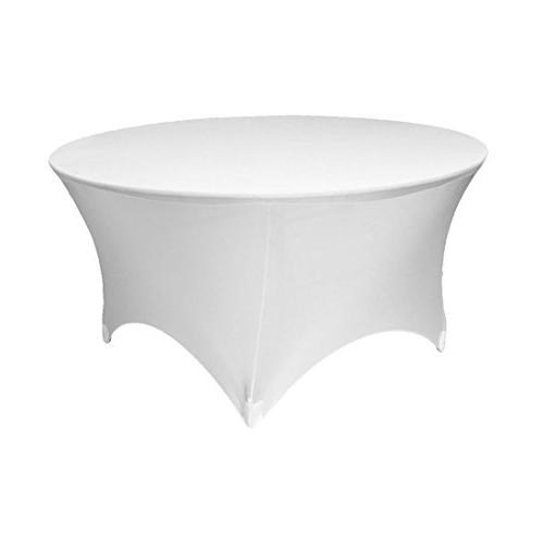 white round stretch tablecloth
