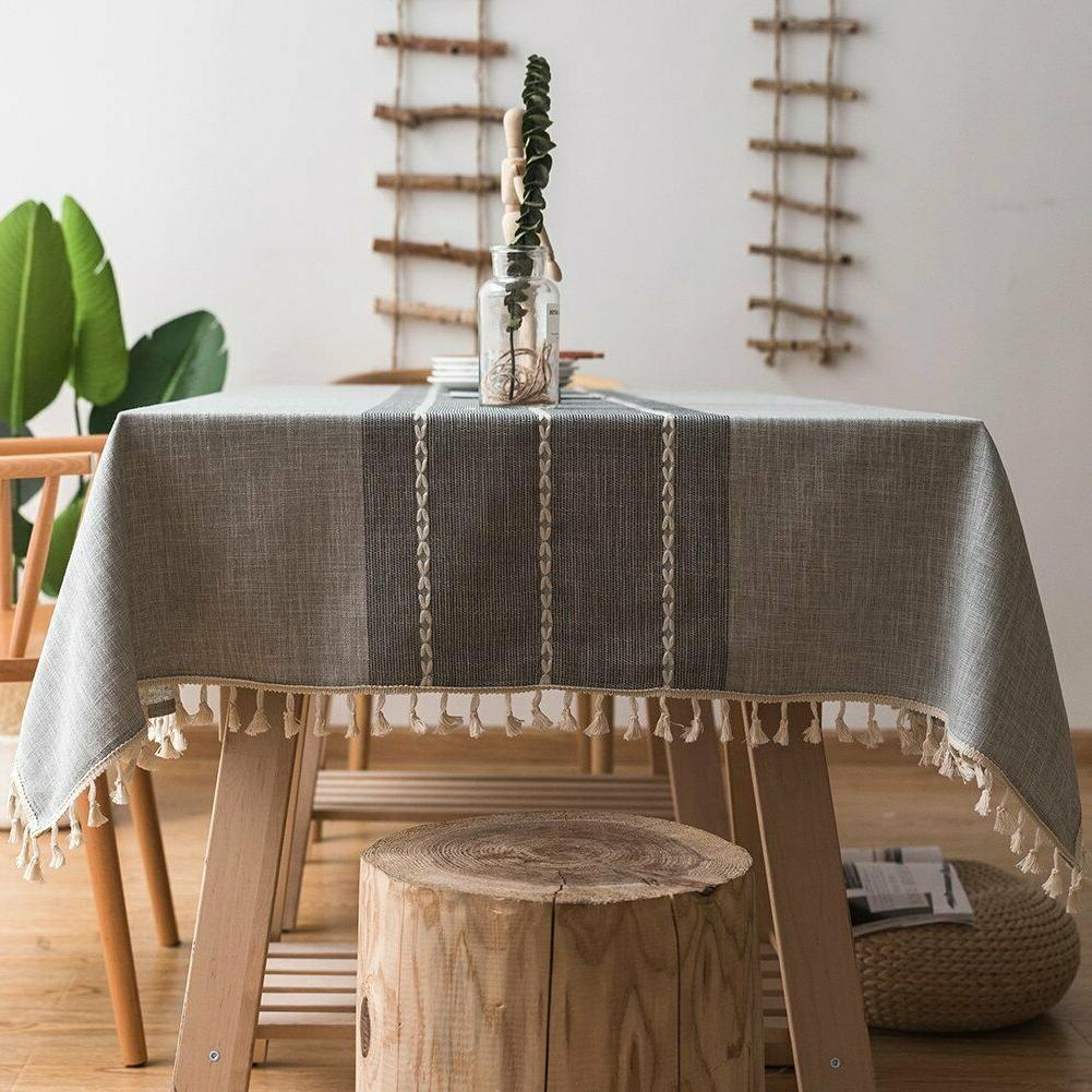 tablecloth cotton linen table cover cloth square