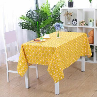 Tablecloth Cover Oil Water Resistant Cloth