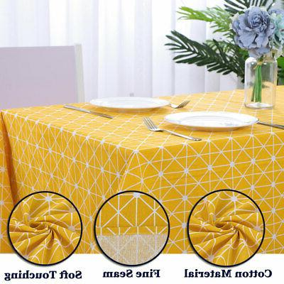 Tablecloth Cotton Soft Resistant Table Cloth