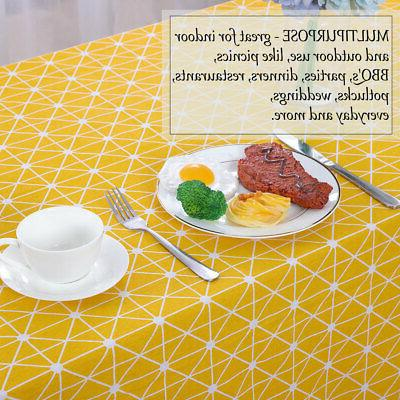 Tablecloth Cotton Soft Table Cover Stain Resistant Table