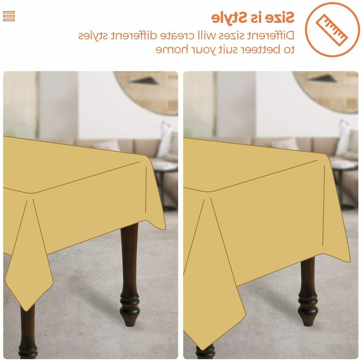 Tablecloth, Rectangle Cotton Linen Wrinkle Anti-Fading Embroide