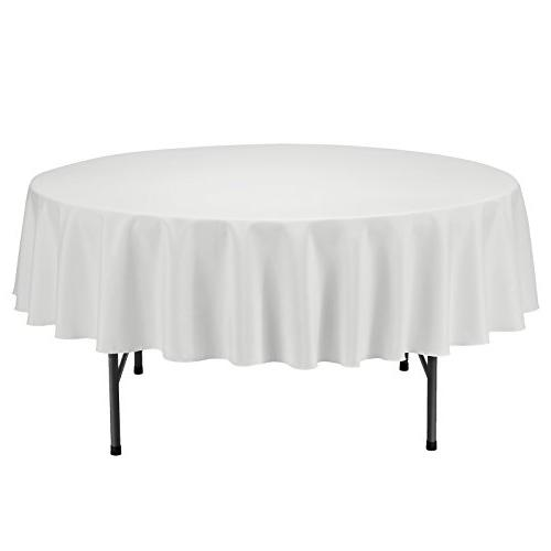 tablecloth round solid polyester table