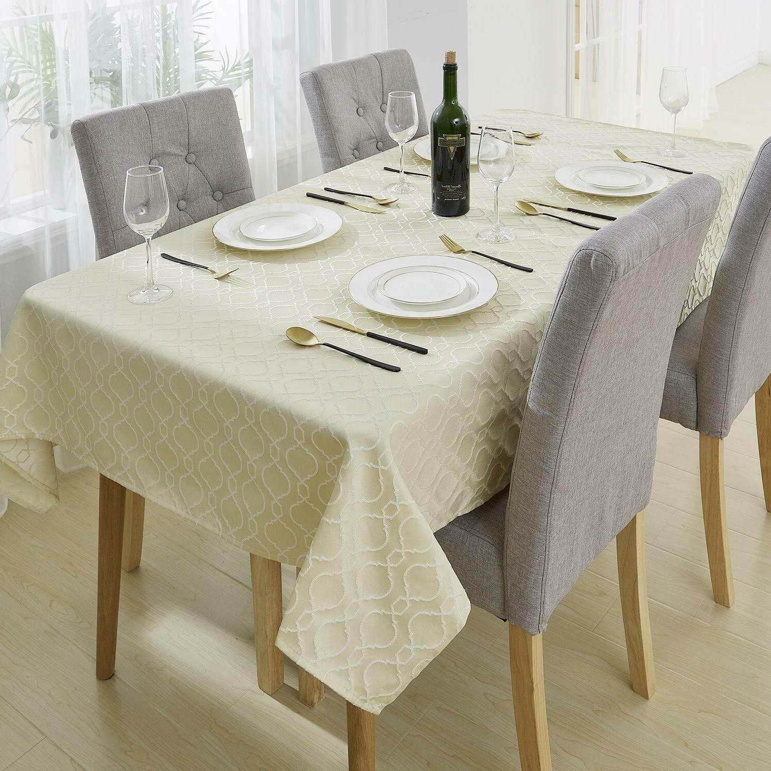Tablecloths Cloth Jacquard Spillproof Water Polyester