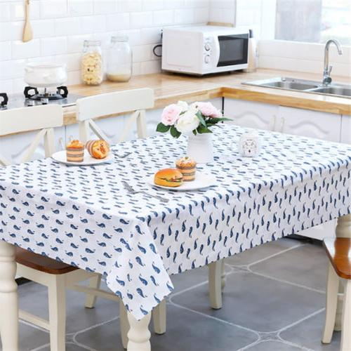 trendy oil proof pvc table cloth cover