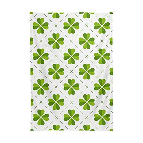 ALAZA U LIFE St Patrick's Shamrock Green Cloth Covers Protectors Rectangle Living Party
