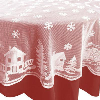 Christmas Table Lace Home Party Decor