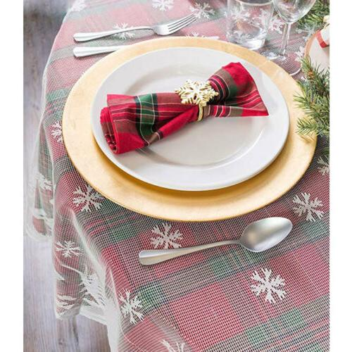 US White Christmas Table Cover Lace Tablecloth Home Decor