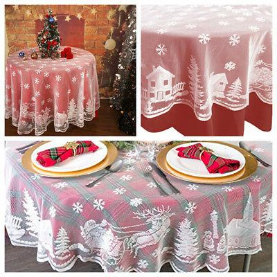 us 70 white round christmas table cloth