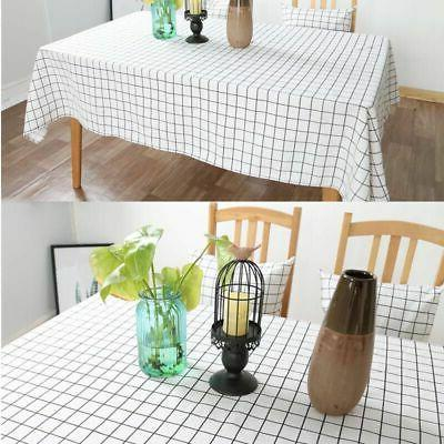 US Cotton Tablecloth Checked Table Cloth Cover