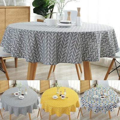 us round linen dining table cloth home