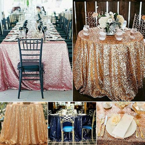 Luxury Sequin Tablecloths Table Cover Event