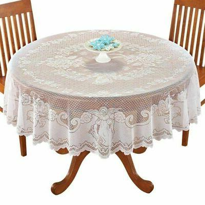 Vintage Lace Tablecloth Rectangle Round Dining Table Cover H