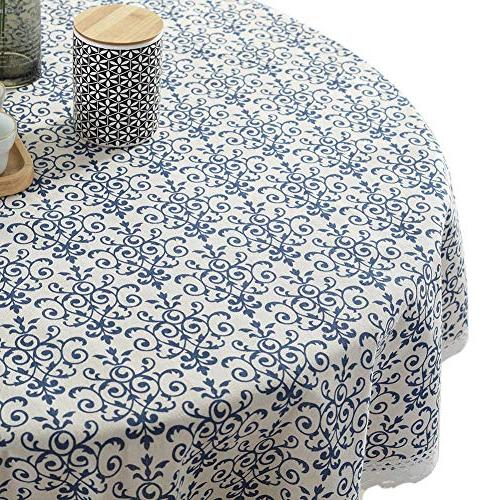 vintage navy damask pattern decorative
